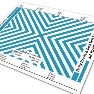 Bowie & Dick Test Sheet
